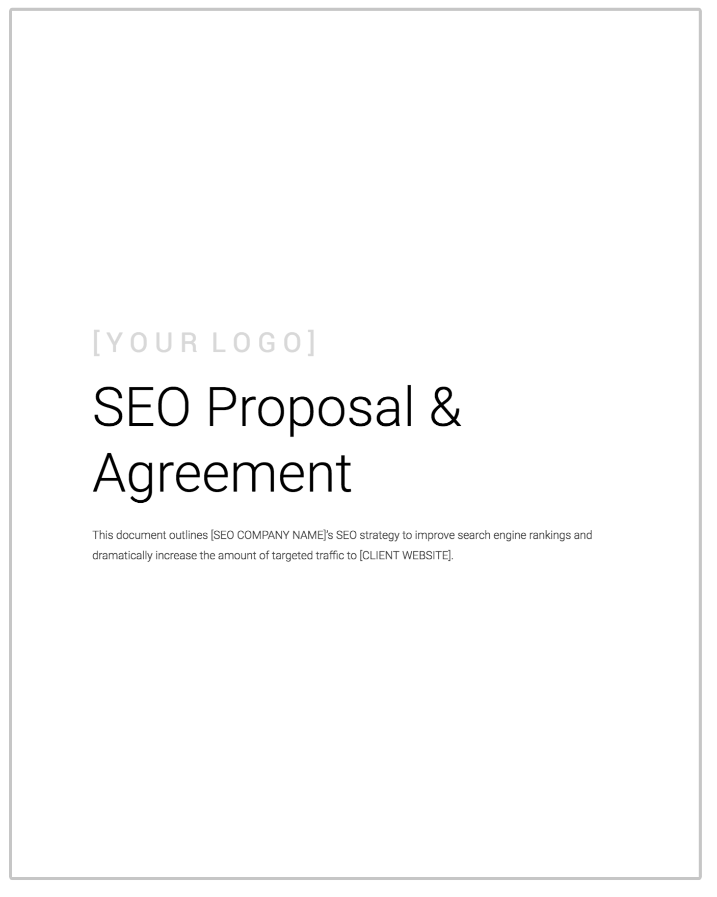 Free Seo Client Contract Template